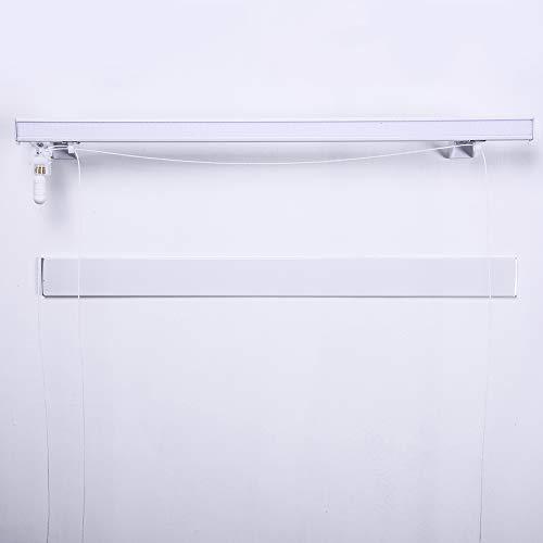 Bastone binario per tenda a pacchetto a vetro professionale tecnico alluminio 2 calate (50 cm)