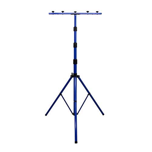as - Schwabe Profi XL Stativ für LED-Strahler / Halogen-Strahler - Stativ mit Universaltraverse geeignet zur Halterung von Baustrahlern und Leuchten I Höhenverstellbar bis 4,00 m - Blau I 46751
