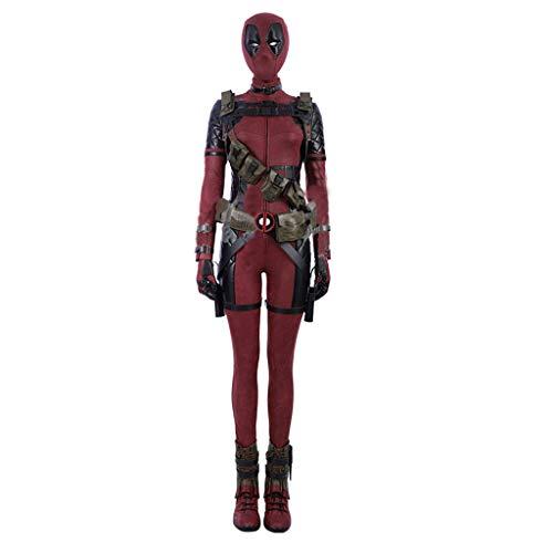 nihiug Dead Waiter 2 Cosplay Kostüm Deadpool Damen Dead Headgear Overalls Komplettset von COS Kleidung anpassbar - Deadpool Kostüm Schuhe