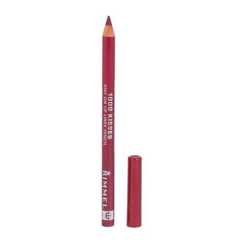 Rimmel Crayon contour des lèvres 1000 Kisses - Tracé précis et régulier, intense en couleur - Longue tenue - Coloris Cherry Kiss (Ensemble de 3)