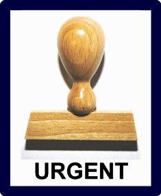 Le-Ons ® STEMPELWELT24 Stamp-Tampon BOIS L223: URGENT