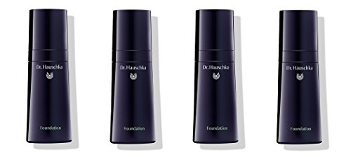 Dr.HAUSCHKA - Foundation 04 Hazelnut 4 boîtes de 30 ml, base Trattante, coprenza vivificante, hydratation et protection de la peau