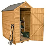Forest Garden 6x4 Apex Security Overlap Garden Shed - Dip Treated