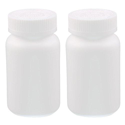 Aexit 2Stk 200ml Plastik Pille Kapsel Flasche Gesundheit Produkt Rund Flasche Weiß -