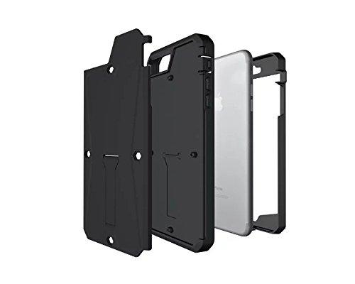 """iPhone 7 Plus Hülle,Lantier Dual Layer Hybrid robuste Tank Full Body schützende harte Fall Deckung mit Kickstand und eingebautem Display Schutz für iPhone 7 Plus 2016 5.5"""" Noir Tank Black"""