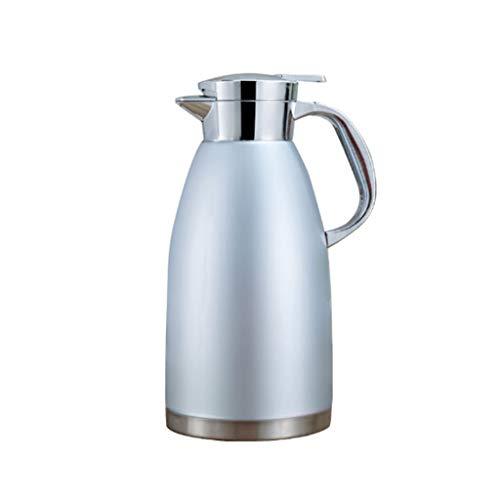 WLHW Trinkflaschen Isolationstopf 1.8L Edelstahl 304 Kleiner Wasserkocher Kaffeekanne Thermos Haushaltskessel Dauerhaft Geeignet Für Kaffee, Getränke (Farbe : Blau)