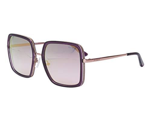 Guess Sonnenbrillen (GU-7602 83Z) dunkel lila - roségold - blaufarben verlaufend mit gold verspiegelt effekt