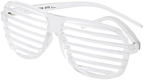 PEARL Party-Kostüm-Zubehöre: Nachleuchtende Partybrille mit Lamellen, Glow-in-the-dark (Mottoparty) (Pearl Kostüme)