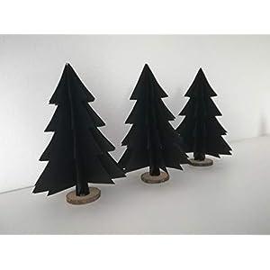 """3er-Set Deko""""großer Tannenbaum"""" wahlweise schwarzem odem weißem Papier/Tischdeko/ Weihnachtsdeko/Christbaum/Weihnachtsbaum"""