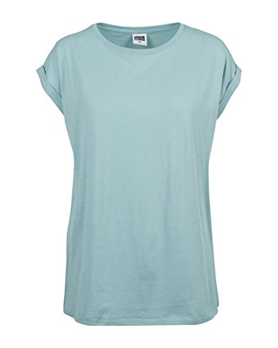 Urban Classics Damen T-Shirt Ladies Extended Shoulder Tee, Bluemint, L (Damen Fit T-shirt Entspannt)