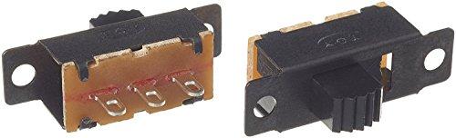 20 Stück DC 50 V 0,5 A 3 Lötfahne 2 Bit SPDT 1P2T Micro Panel Schiebeschalter -