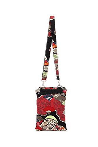YuanDian Donna Mini Vintage Vento Nazionale Denim Borse a spalla Crossbody Messenger Bag Nuvole Rosso