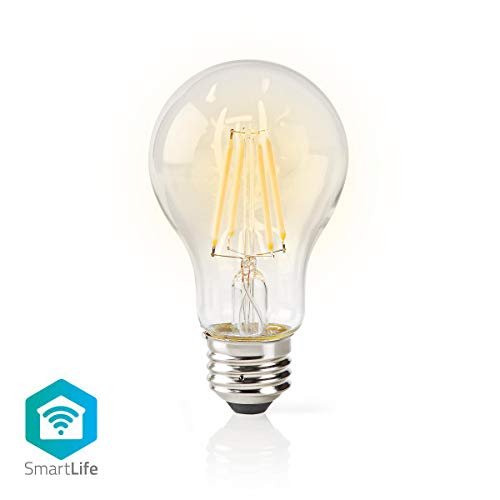 Nedis WIFILF10WTA60 Wi-Fi-Smart-LED-Lampe   Filament   E27   Weiß   A60