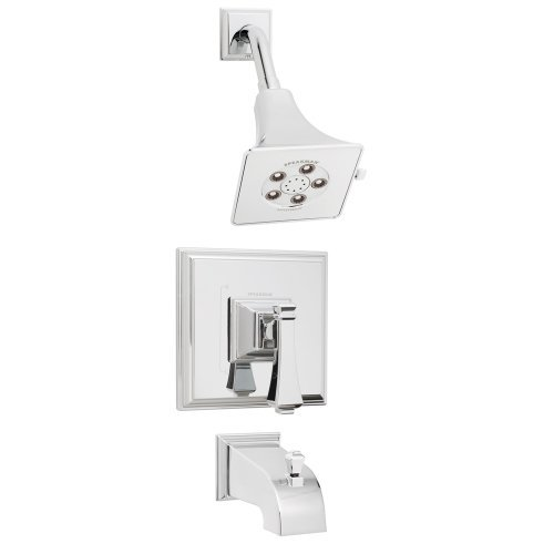 Speakman SM-8030-P Rainier Anystream Shower Head with Diverter Tub Spout and Pressure Balance Valve Shower Combo, Polished Chrome by Speakman