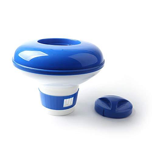 RoadRoma Dispensador Flotante de la Tableta química del Cloro automático para el Azul y el Blanco del Balneario de la Piscina