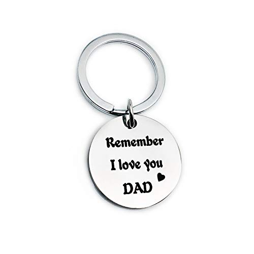 Amody anello portachiavi in acciaio inox argento rotondo remember i love you mom dad per donna regali per la festa del papà