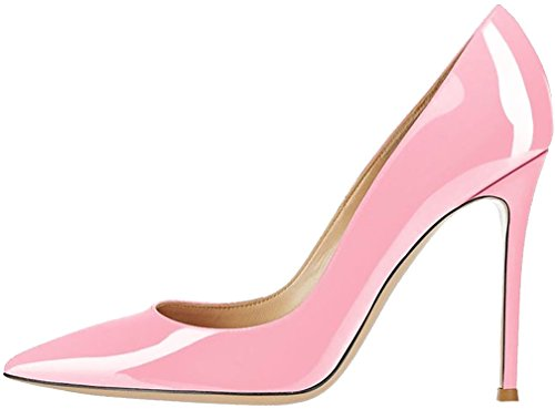 Calaier Femme Cadescribe 11CM Aiguille Glisser Sur Escarpins Chaussures Rose