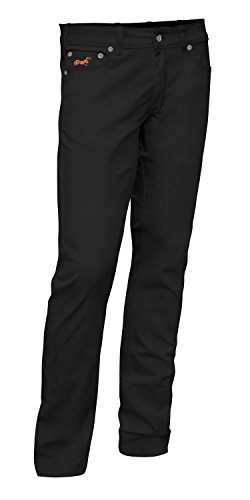KERMEN - Bundhose Stretch Milano 5-Pocket-Jeans Style Baumwolle 260 gm - Business Stoffhose Elegante Hose Classic Wachmann Security Sicherheitsdienst Kellnerhose - made in EU - Schwarz. Größe: 27