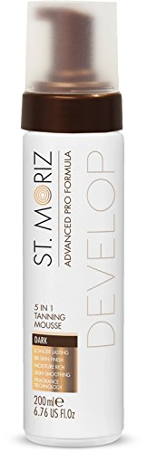 St moriz, advanced pro formula 5-in-1, mousse abbronzante, dark