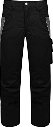 Handy Arbeit Hose Khaki (Arbeitshose Handwerkerhose Bundhose mit vielen Taschen und praktischen Details 245 g/m² Farbe Schwarz/Grau Größe 54)