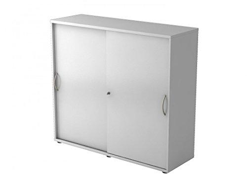 Aktenschrank grau Schiebetür - Büroschrank mit abschliessbaren Schiebetüren