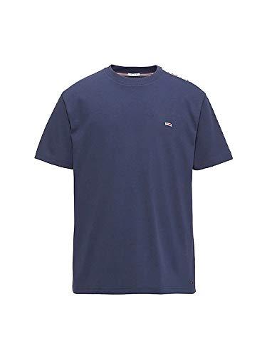 Tommy Jeans Regular Fit Halbarm T-Shirt Rundhals Statement-Print blau Größe XS -