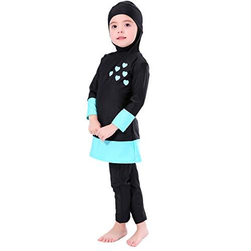 Bmeigo Muslimische Bademode Mädchen - Burkini Schwimmanzug Long Sleeved Kinder Bescheidenen Badeanzüge