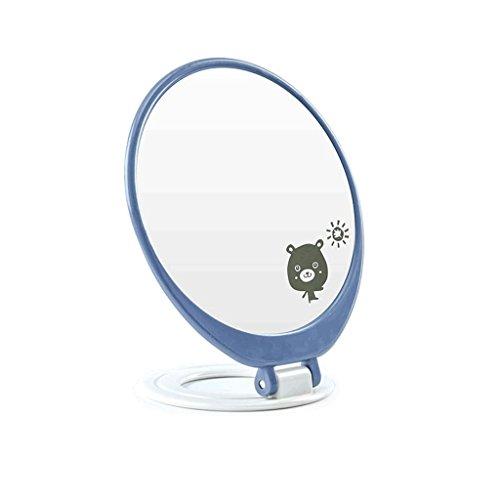 Bureau Miroir Maquillage Miroir Bureau Grand Ovale Unique Princesse Miroir Coiffeuse Miroir Table Miroir Pliable Dortoir Haute Définition Miroir Simple et Pratique (13 * 8.5 * 15.5 cm) Xuan - worth having