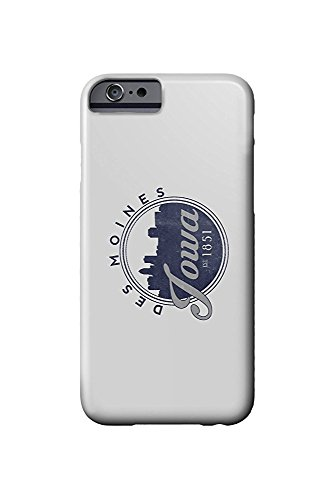 Des Moines, Iowa - Skyline Seal (Blue) (iPhone 6 Cell Phone Case, Slim Barely There) (Des Moines Skyline)