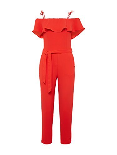 TOM TAILOR Denim für Frauen Overalls & Jumpsuits Off-Shoulder Jumpsuit mit Gürtel Strong Red, M