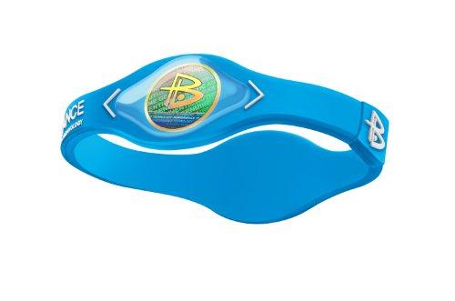 Power Balance Silicone Armband, neon blue/white, XS, 455
