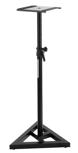 Pronomic SLS-10 Stativ für Studio Monitor Ständer (sTabile Dreiecksbasis, Gummifüße und Dornenfüße / Spikes, Sicherheitssplint, Stahl, Trägerplatte mit Gummistreifen) schwarz Test