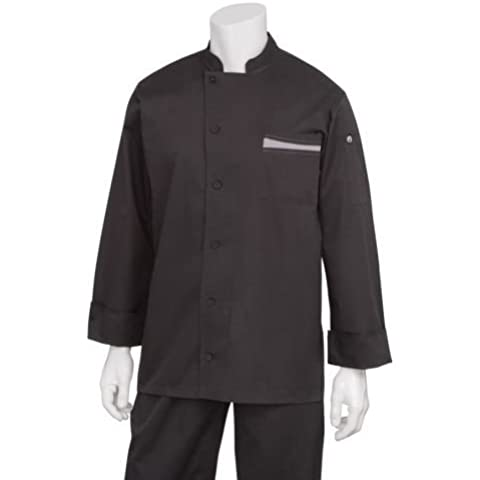 Chef obras b870-xxl Lyss Signature Series Unisex chaqueta de cocinero, 2x -Large, Negro