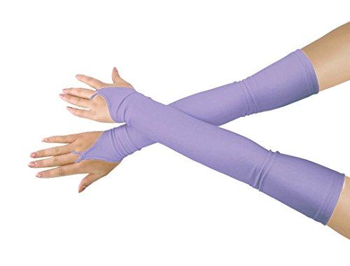 lucky baby store Mädchen 'Boys' Erwachsene Halloween Make-Up Fingerlose Über Elbow Cosplay Kostüm Handschuhe (light purple)
