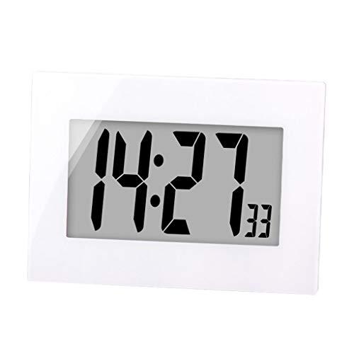 Clock- Elektronische Wecker LED Wecker Digitale GroßE Bildschirm Einfache Bedienung Stumm äLtere Kinder Kreative Dekoration Moderne Wohnzimmer Schlafzimmer Nachttisch Schwarz...