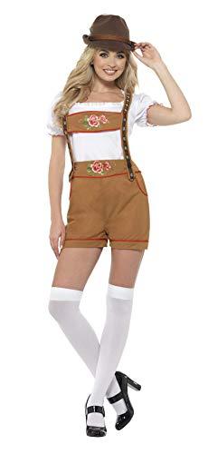 (Smiffys SMIFFY 'S 49654l Sexy Bayerische Bier Mädchen Kostüm, Braun, L–UK Größe 16–18)