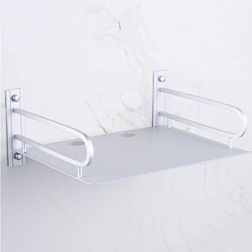 Raum Aluminium Set-Top-Box Silber Weiß Wandbehang Rack Wohnzimmer Telefon Regal Bohren, 375 * 250 * 140mm (Wandbehang-quilt-rack)