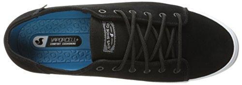 DVS SHOES Herren edmon Sneaker Schwarz (Black Black Suede)