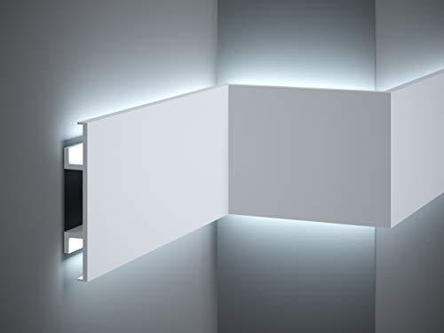***TOPSELLER*** MARDOM DECOR Lichtleiste I QL020 I Stuckleiste Wandleiste Deckenleiste I für indirekte LED Beleuchtung konzipiert I 200 cm x 15,0 cm x 2,5 cm