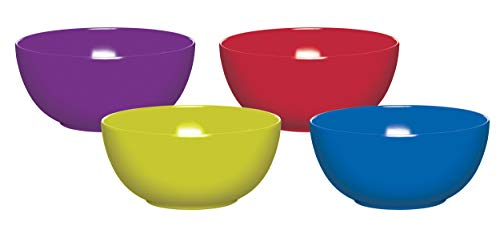Colourworks Melamine Plastic Bowls, Classics Colours, Set of 4
