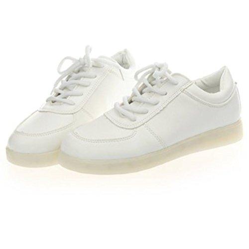 kleines Turnschuhe Für Leuchtend High Sport Schuhe 7 Weiß Sportschuhe Handtuch present Unisex Lackleder Sneaker Farbe erwachsene Aufladen junglest® Led Top Usb dnqBdTwa