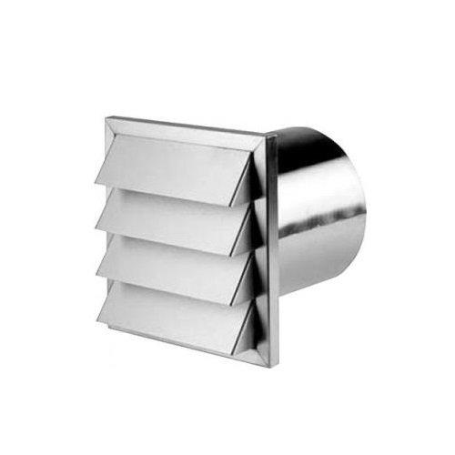 Kanal Gitter (Edelstahl Außenjalousie 190 x 190 mm Abluft Kanal Gitter für 125 mm Abluftsystem)