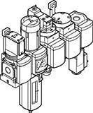 Festo 542287Service Unit combination, modello MSB6–1/2: c3j4d1a1F3-wp