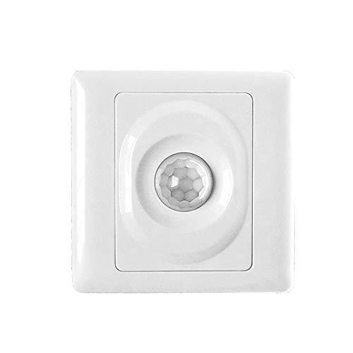 Lixada Automatischer Infrarot-PIR-Körperbewegungssensorschalter Wandmontierter LED-Lichtschalter (Lichtschalter Installieren Dimmer)