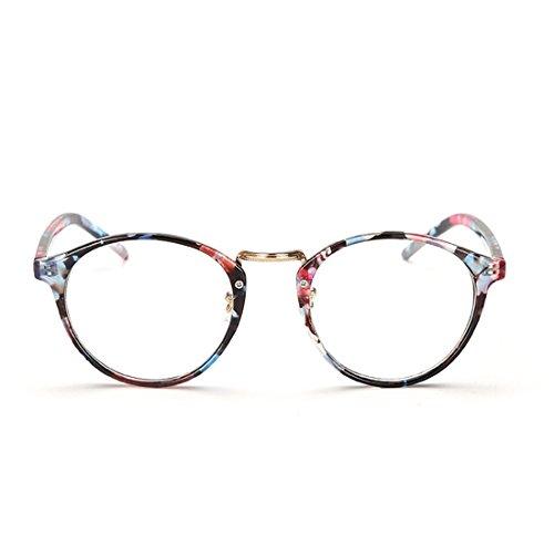 Huicai Mann Frau Retro Brille Mode Myopie Brille Runde Rahmen Gläser-1,00 bis-6,00