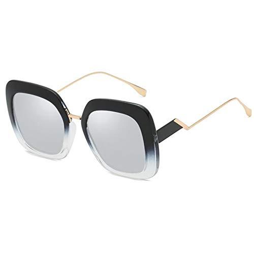 CCGKWW Designer-Sommer-Modische Quadratische Rahmen-Sonnenbrille-Frauen-Berühmte Italienische Marken-Brillen-Schwarze Kristallelegante Große Gläser