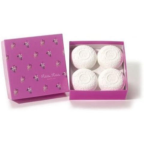 Petite, Petite Blanc Lila - 4 Soap Bar Set Gift Boxed by Petite Blanc (Bar Soap Gift Set)