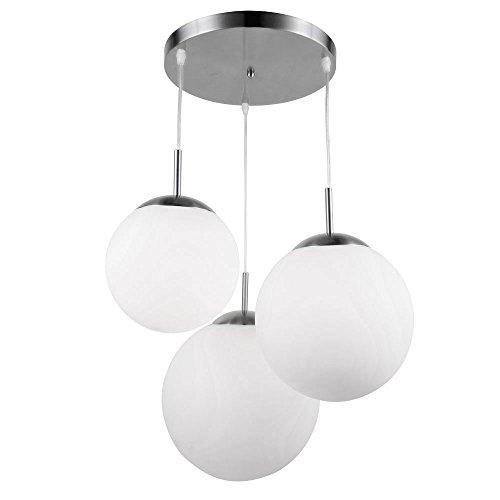Glas Kugel Leuchte (Design Decken Lampe Wohn Ess Zimmer Glas Kugel Hänge Pendel Leuchte satiniert Globo 1581-3)