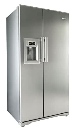 Beko GNEV321APX Side By Side Fridge Freezer With Ice And Water Dispenser Stainless Steel
