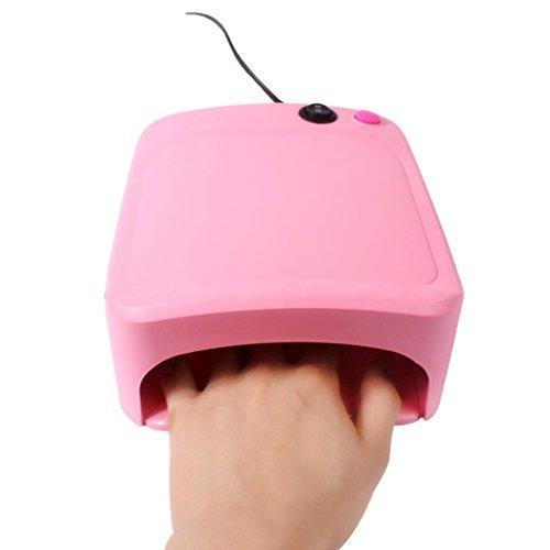 Hot Spiegel Nagel Nail 36W UV Lampe Licht Nagel Trockner Maniküre Gel mit Timer Von Xinan (, Rosa)